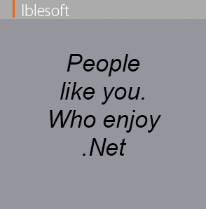 People like you who enjoy dot net